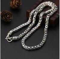 Ожерелье Мужчины на заказ ожерелья Бохо ювелирные изделия 925 серебро длинное ожерелье 7 мм