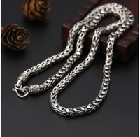 necklace men custom necklaces boho jewelry 925 silver long necklace 7mm