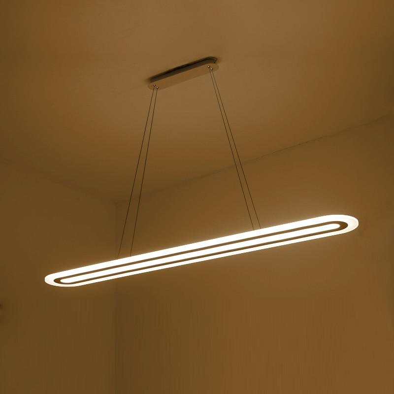 moderno led a sospensione pendant lights striscia plexiglass lampada a sospensione illuminazione per sala da pranzo