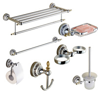 Accessories Bathroom Set,Towel Rack ,Single Towel Rack,Toilet Paper Tray,Toilet Brush Holder,Soap Stand,Brush Cup Holde,Hooks