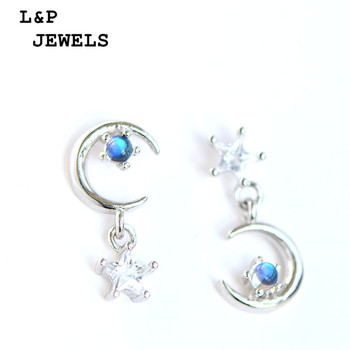 Napel Natural Gemstone 100% Authentic 925 Sterling Silver Earrings For Women Moonstone Jewelry Special Style Earrings Fine Jewel