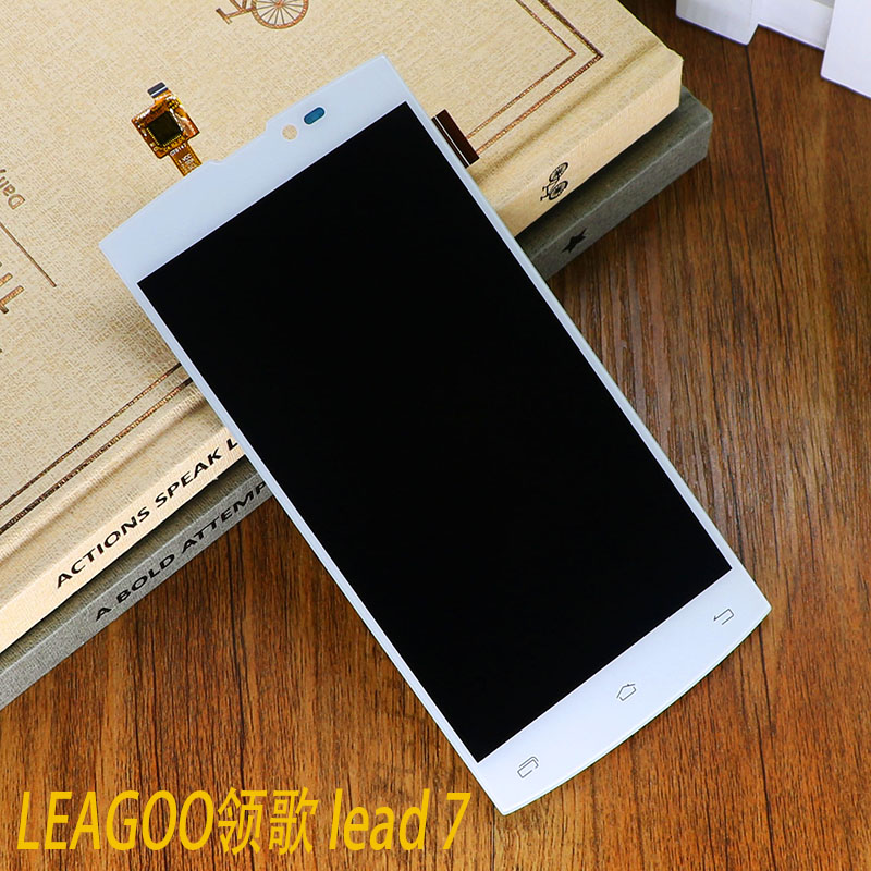 цены  In Stock Original White Lead7 LCD Display And Touch Screen Assembly For Leagoo Lead 7 LCD Free Shipping + Tools + Track Number