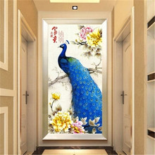 DiamondEmbroidery,China,landscape,scenery,Peacock,5D Full Diamond Painting,Cross Stitch,Flower Mosaic,Decoration
