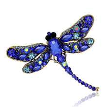 Vintage Grande Smalto Esmaltes dragonfly Spille Corpetto Spilla Lotto Da Sposa Spilla Insetto Hijab Pin Up Spille Regalo Di Natale(China)