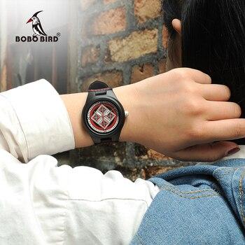 BOBO BIRD Lady Wood Watch Relogio Feminino Women Timepieces reloj mujer Leather Strap Girls Luxury Wristwatches W*Q03 Women Quartz Watches