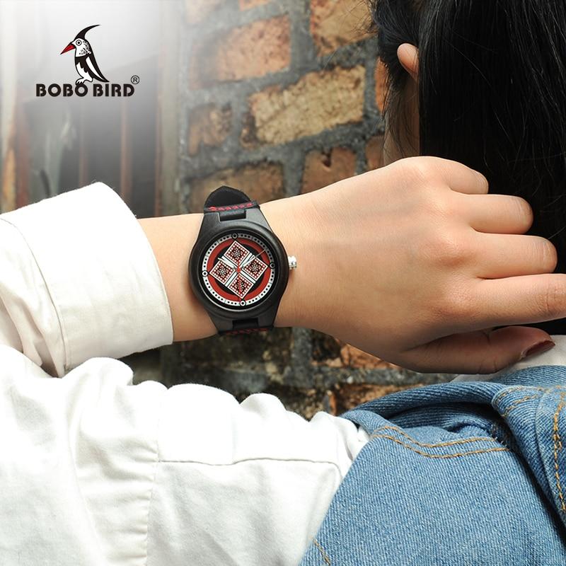 BOBO oiseau dame bois montre Relogio Feminino femmes montres reloj mujer bracelet en cuir filles de luxe montres W * Q03BOBO oiseau dame bois montre Relogio Feminino femmes montres reloj mujer bracelet en cuir filles de luxe montres W * Q03