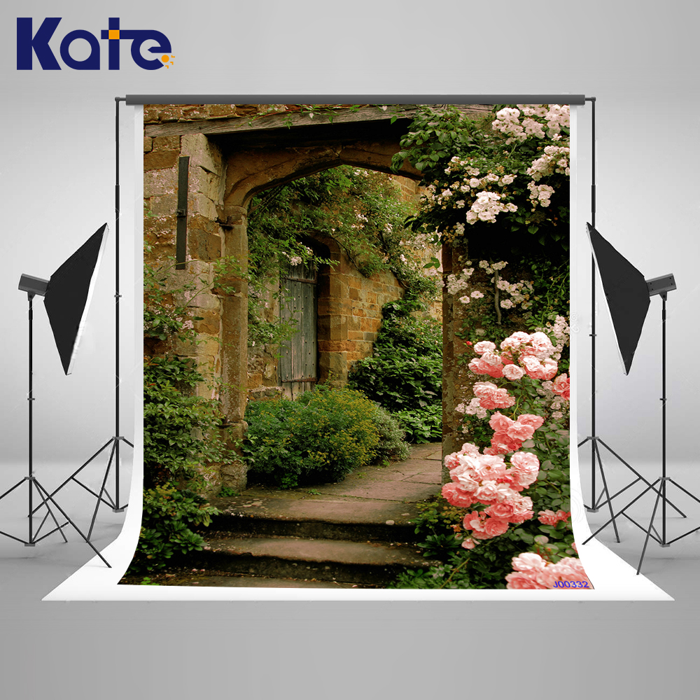 KATE Scenic Photography Backdrops Spring Background Courtyard Backdrops Pink Photo Flower Wall Wedding for Studio сумка kate spade new york wkru2816 kate spade hanna
