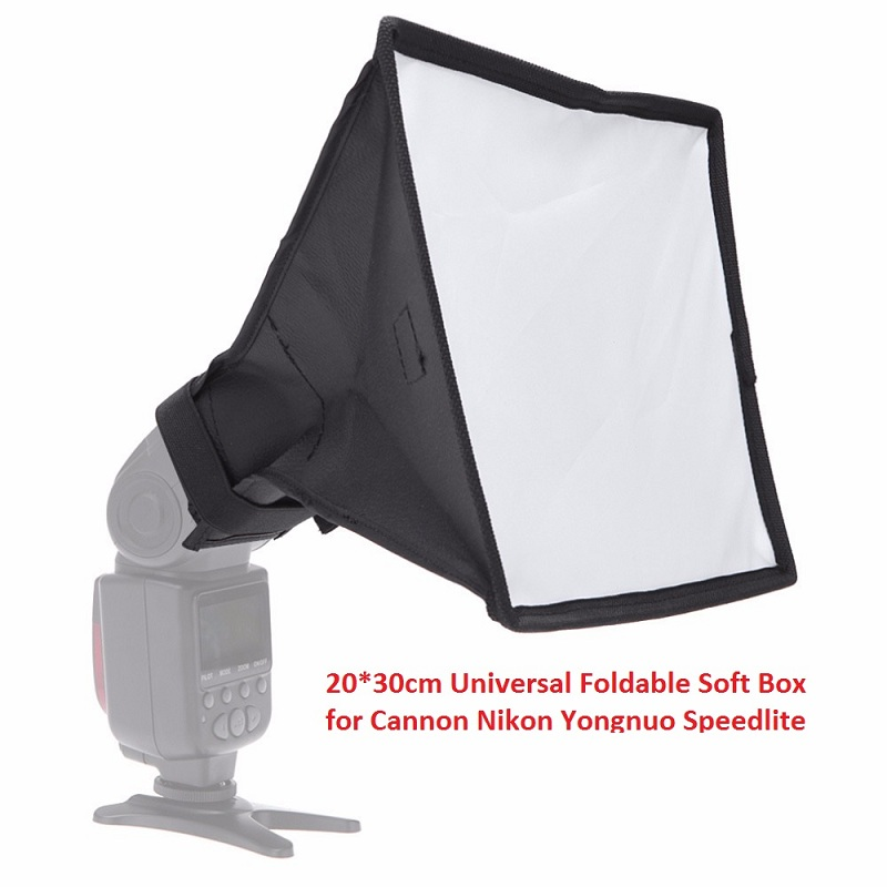 20 30cm Universal Foldable Flash Diffuser 20x30cm Soft Box Photo Studio Accessories for Most External Flash