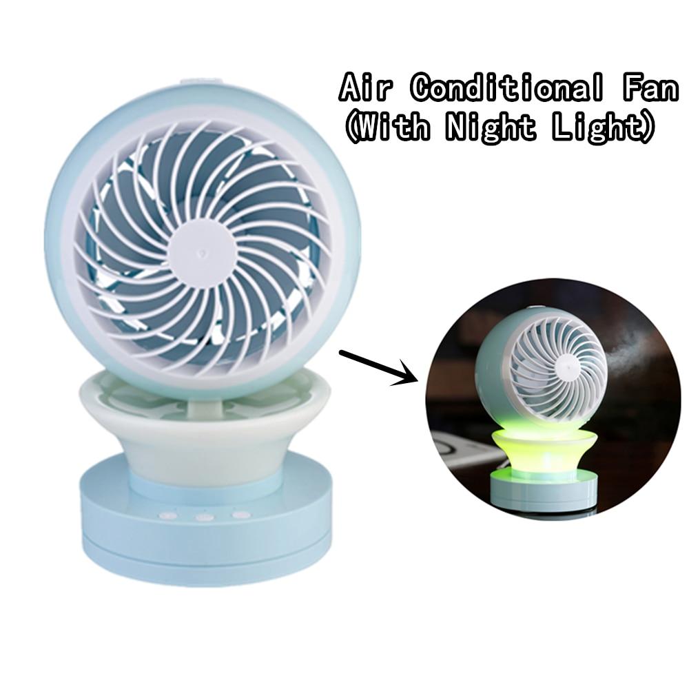 Water Mist Fan Rechargeable Misting Humidifier Fan With Night Light Spraying cooling Fan Office Desktop Mobile Power Ventilador