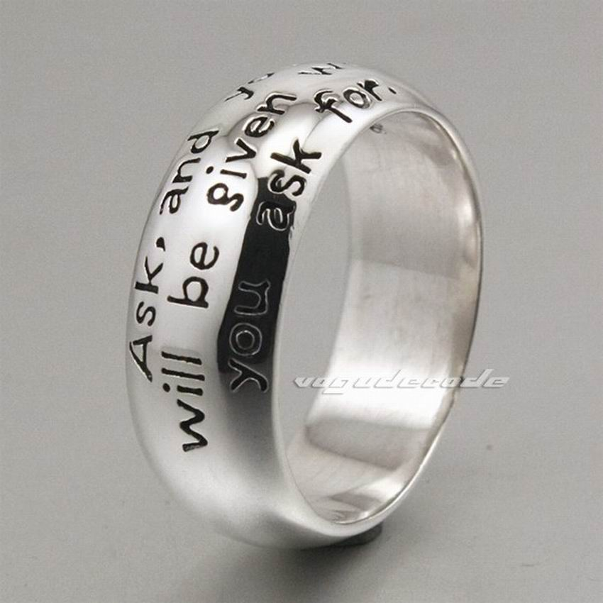 Solid 925 Sterling Silver Mens Ring 8E004 mens solid 925 sterling silver 8mm rope ring