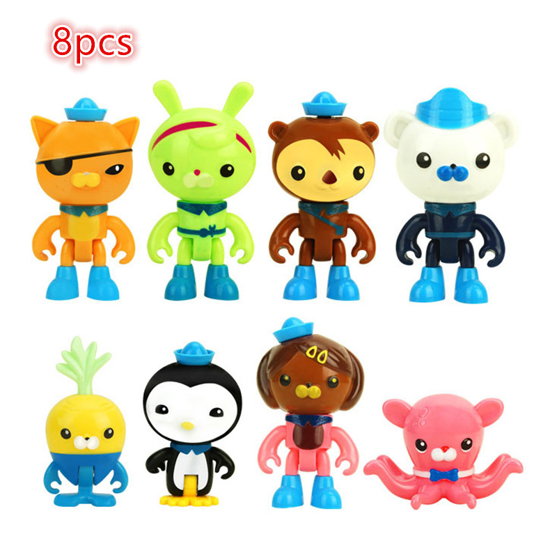 8pcs/lot The Ocean Action Figure Toys Peso Captain Kwazii Model Toys Cartoon Movie Dolls Model Kid's Toys Gift