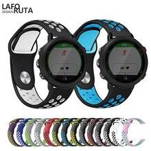 Laforuta Watch Band for Garmin Forerunner 245 Strap  Silicone Women Men 20mm Quick Release Bands Bracelet Fitnes Wristband 2019