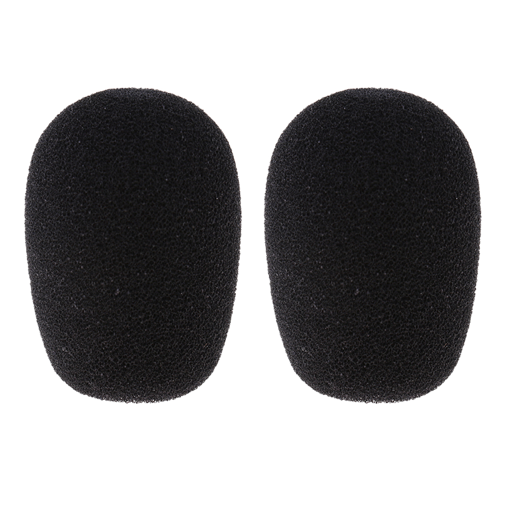 2 Pieces Mini Condenser Microphone Windshields Foam Cover Black