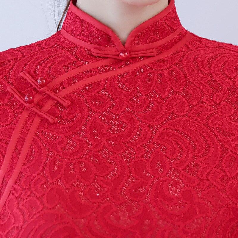 xxxl Broderie Robes Longues Femelle S Mince Nouvelle Traditionnel Qipao Mandarin Fleur Z087 Chinois D'été Arrivée Taille Col Cheongsam wYqwXRap