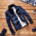 TG6251 Cheap wholesale 2016 new Teenagers fall contracted denim jacket han edition cultivate one's morality fashion big yards