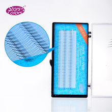 2015 New hot starscolors 0.07mm C curl Super Thin Cluster Eyelash 3D Premade Fan  High quality Perfect false Extension