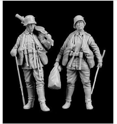 1/35 Ancient Soldiers With Sack   Resin Figure Model Kits Miniature Gk Unassembly Unpainted