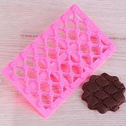 Forma de flor Fondant Queque Molde Cortador De Gelo Embosser Embossing Biscoito Bolo Ofício Açúcar