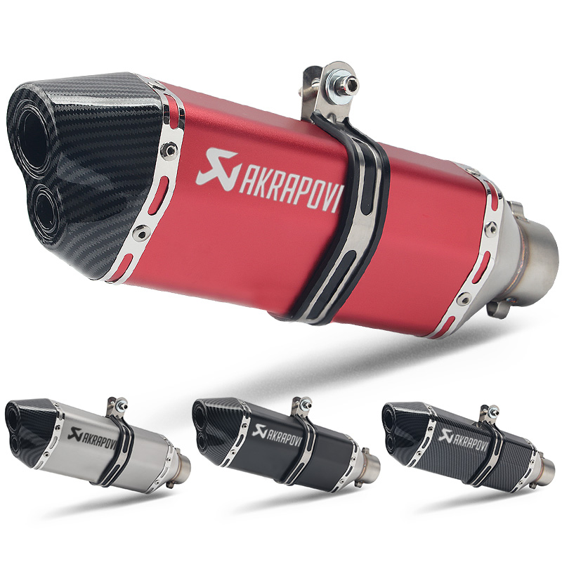 Universal 51MM Motorcycle Akrapovic Exhaust Pipe Moto Escape With DB Killer For R6 Z650 MT07 Z900 CBR1000 Ktm R3 R25