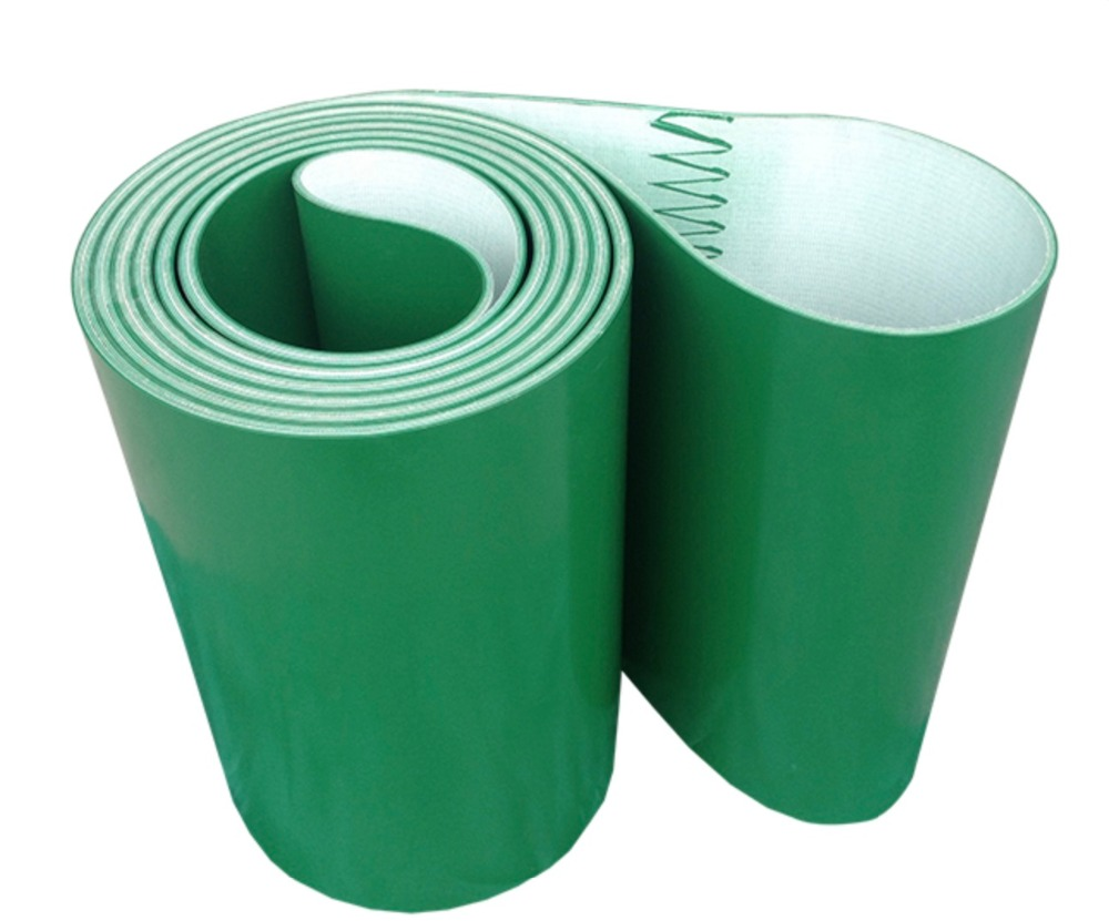 Perimeter:16000mm Width:100mm Thickness:3mm Green Industrial Transmission Line Belt Conveyor PVC Belt(Can Customized Size) farman pvc conveyor belt thickness 1 5mm color green