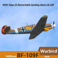 FMS RC Airplane 1400MM 1.4M Bf 109 Bf109 Me 109 Messerschmitt Brown 6CH 4S EPO PNP Big Scale Gaint Warbird Model Plane Aircraft