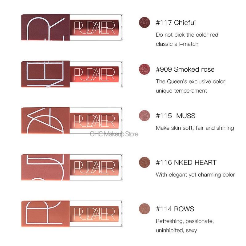 5 Pcs/Kit Matte Lip Gloss Matte Liquid Lipstick Lipgloss Set Red Velvet Sexy Color Lip Tint Stain Nude Kit Batom Nyxed Makeup 2