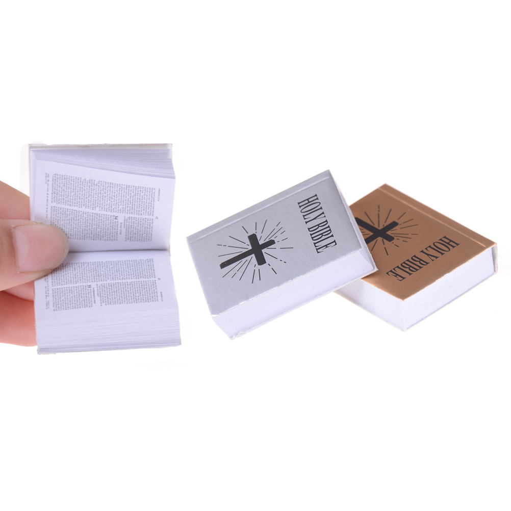 4*3.2*0.9 Cm 1/6 Scale Mini English Edition Holy Bible Book Dollhouse Miniature Scene Decoration Dolls Accessories