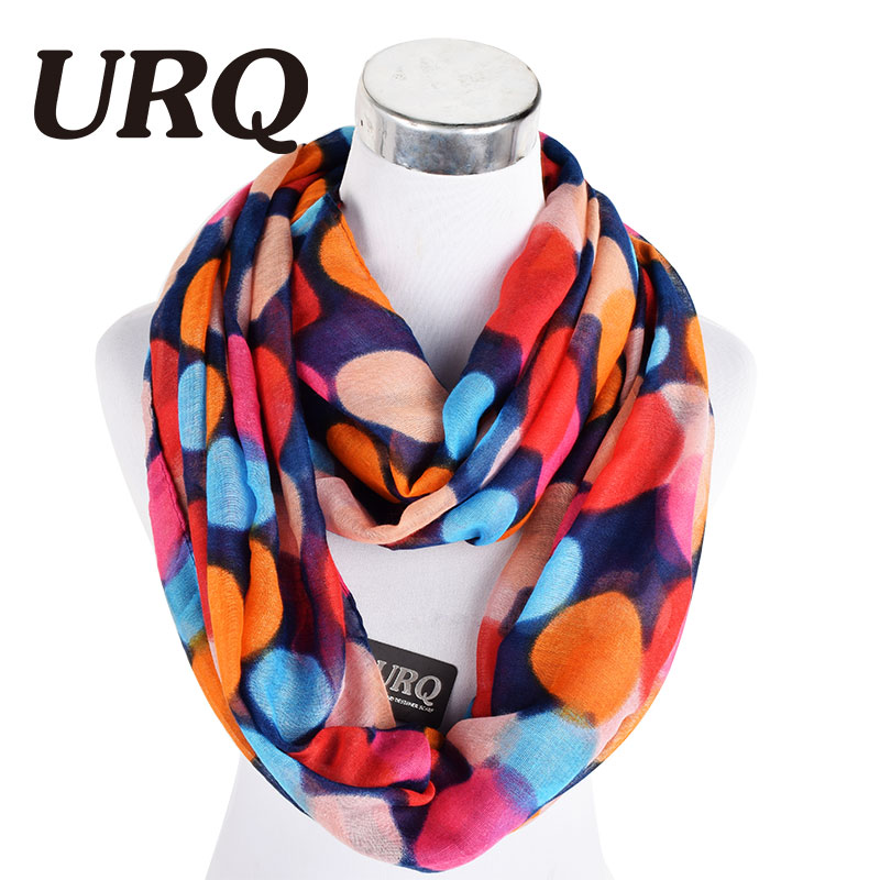Woman Infinity Scarfs Winter Warm Polka Dot Women Tube Scarf Scarves Loop Plumb Scares V8A9567