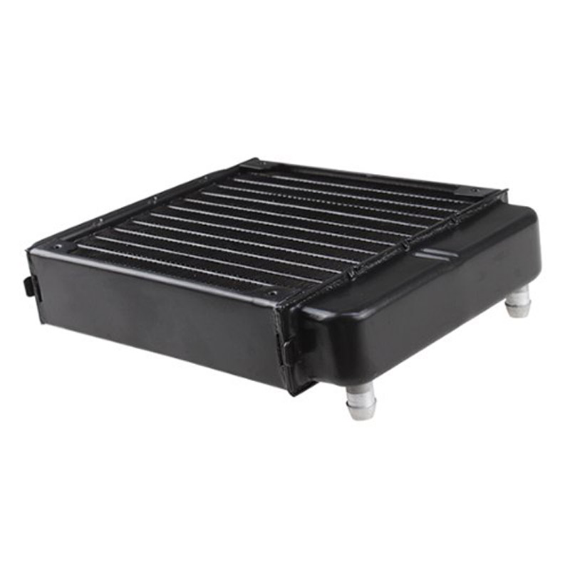 YOC-Black Aluminum Heat Exchanger Radiator For PC CPU CO2 Laser Water Cooling System Computer black paint efficient heat exchange water cooling radiator 10 tube number vacuum aluminum brazing for computer cpu