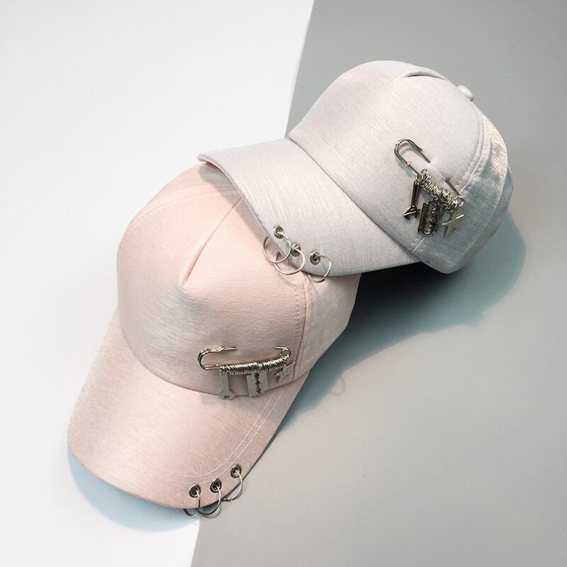 Новинка 2017 года из металла Кольца модные Кепки Бейсбол Кепки Snapback шляпа для Для мужчин Для женщин Бейсбол Hat Открытый Спорт Гольф Шляпа Кост...