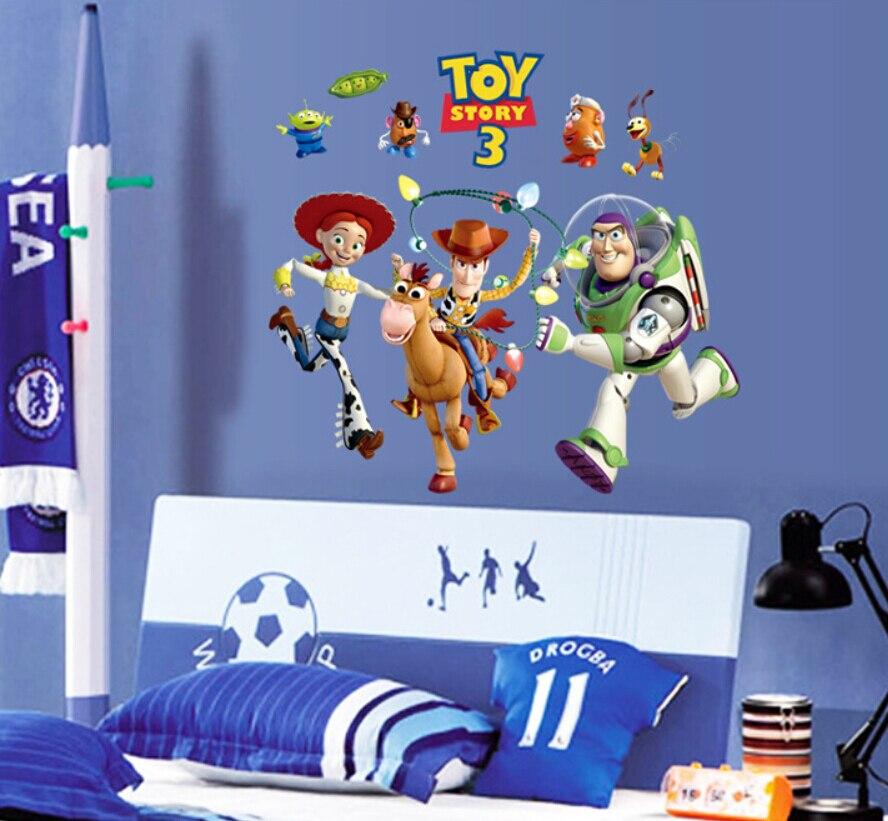 Quarto Toy Story ~ Buzz Lightyear de Toy Story papel de parede de vinil adesivos de parede para quartos dos miúdos