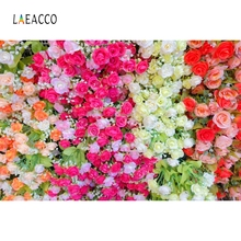 Laeacco Colors Flowers Leaves Wedding Romantic Love Photography Background Customized Photographic Backdrops For Photo Studio
