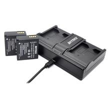 2pcs DMW-BLG10 DMW BLE9 BLG10E BLG10PP Batteries + Dual USB Charger for Panasonic BLG10E BLG10GK BLG10 DMC-GF6 DMC-GX7 GF6 GX7