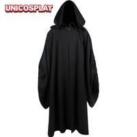 Star Wars Emperor Palpatine Darth Sidious Black Cloak Cosplay Costume
