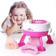 ماكينة حياكة يدوية كبيرة يمكنك صنعها بنفسك تحتوي على موقع إبرة منسوج منسوج منسوج للقبعة والقبعة لعبة تعليمية للأطفال