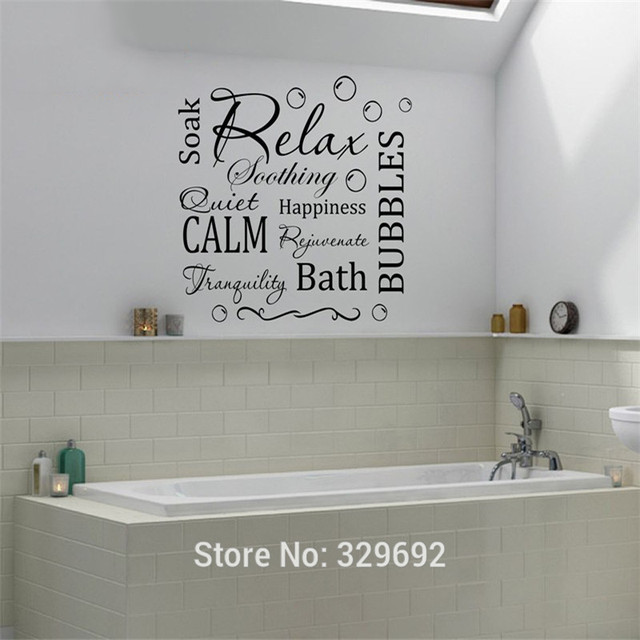 Relax Wall Decor Relax Calm Bubbles Bath Wall Art Sticker Decal Vinyl Home D On Enjoy Cooking Time Diy Kitchen Restaurant Wall Stickers Decal