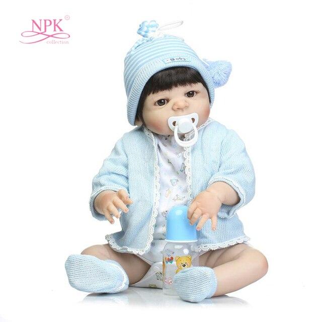 """22"""" BLifelik Alive Bebe Reborn Boy Silicone Reborn Baby Dolls Toys for Sale Reborn Bonecas Bebe Silicone Completa 56cm Baby Doll"""