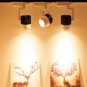 Image 5 - 4pcs/lot 20W 30W COB LED Track Light aluminum Ceiling Rail Spot lights For Clothes Shop Shoes Store Track Rail Lighting