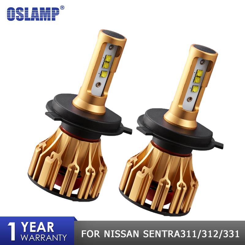Oslamp 70W 7000LM LED Headlight Bulb H4 Hi Lo Beam Led SMD Chips Car Headlight Bulbs 6500K FOR NISSAN SENTRA311 312 331