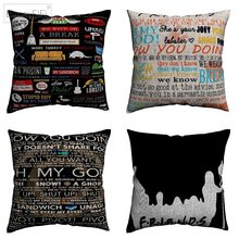 Friends TV Show Motivation Quote Decorative Cotton Linen Cushion Cover 45x45cm For Sofa Chair Pillow Case Home Decor Almofada(China)