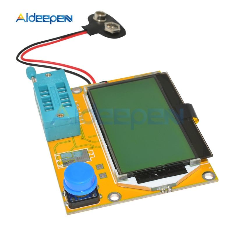 LCR-T4 M328-Battery ЖК-цифровой Транзистор тестер метр Диод Триод Емкость ESR метр для MOSFET/JFET/PNP/NPN L/C/R1 + чехол title=