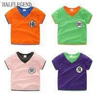 2017 New Summer Boys Goku T Shirts Girls Children Clothing Dragon Ball Tees For Baby Boys