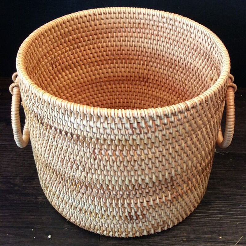 Laundry Basket Rattan Storage bucket Large organizer for clothes Dirty Clothes Sundries organizador kids storage box for toys