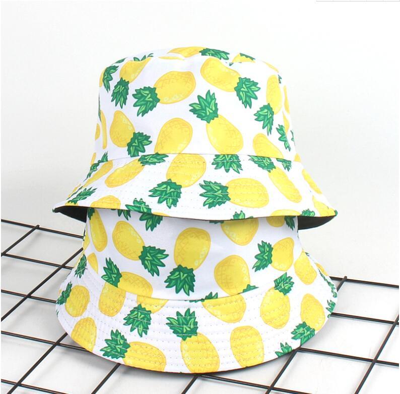 Ny ananas skovhue til mænd kvinder mode sommer udendørs chapeau - Beklædningstilbehør