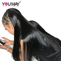 Pre Plucked Full Lace Human Hair Wigs 130% Density Braizilian Straight Virgin Hair Full Lace Wigs With Baby Hair You May