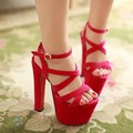 2016 sexy 18cm high heels women platform pumps new fashion wedding party shoes red bottoms plus size 36-46
