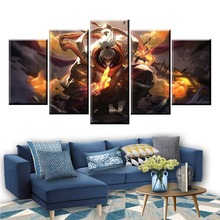 5 Panel LOL League of Legends Jax Game Canvas Printed Painting For Living Room Wall Art Decor Modern HD Picture Artworks Poster