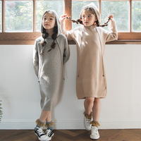 2019 New Kid Sweater Dress Baby Princess Dress Girl Autumn Dress Children Dress Rabbit Hair Core Spun Yarn Toddler Sweater,#3469
