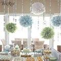 FENGRISE 3 pcs 20 25 30 cm Papel Tissue Pom Poms Casamento Decorações Da Festa de Aniversário Crianças Crepe Grinaldas de Flores Artificiais bola