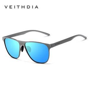 Image 4 - VEITHDIA ماركة مصمم للجنسين الفولاذ المقاوم للصدأ TR90 الرجال النظارات الشمسية الاستقطاب UV400 عدسة نظارات شمسية للنساء gafas دي سول 3920